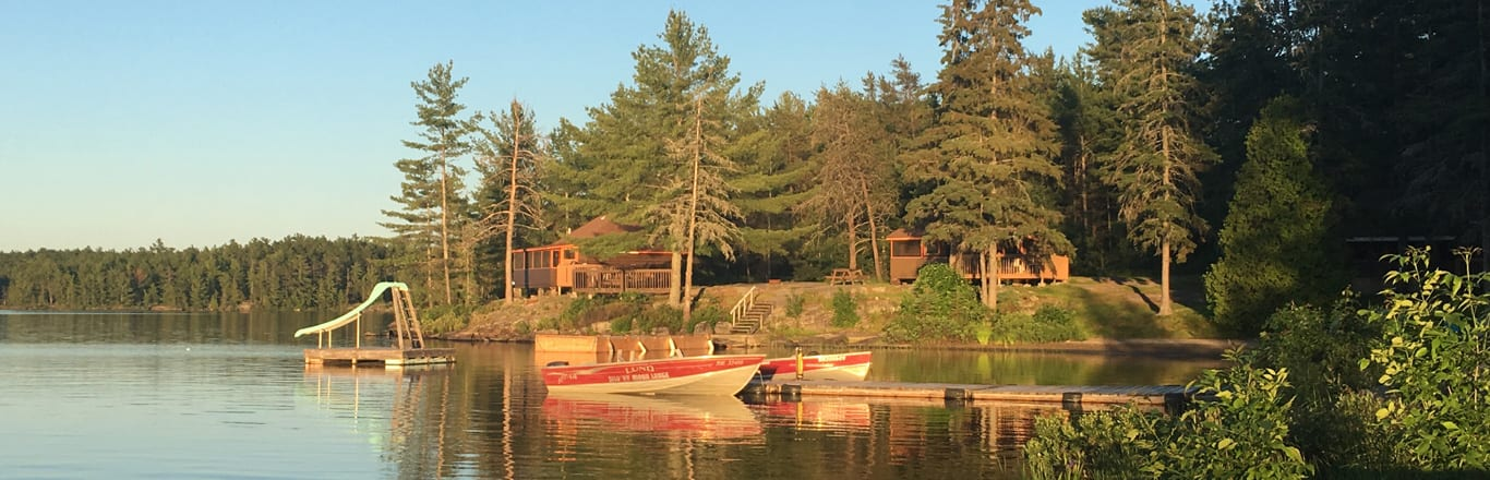 Lake pier and slide.
