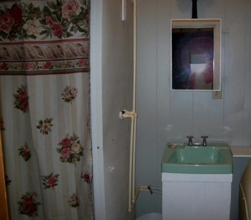 Cabin bathroom.