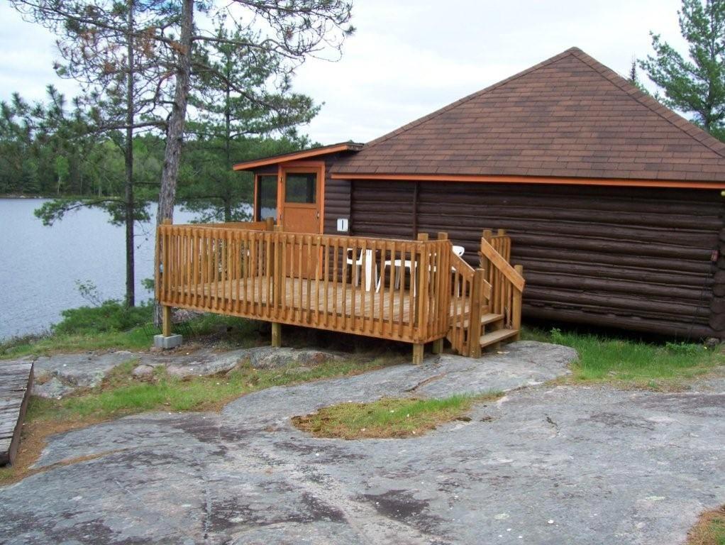 Cabin 1 patio deck.