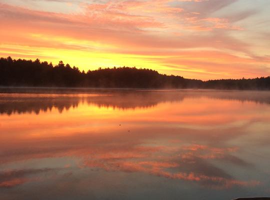 Sunrise on the lake.